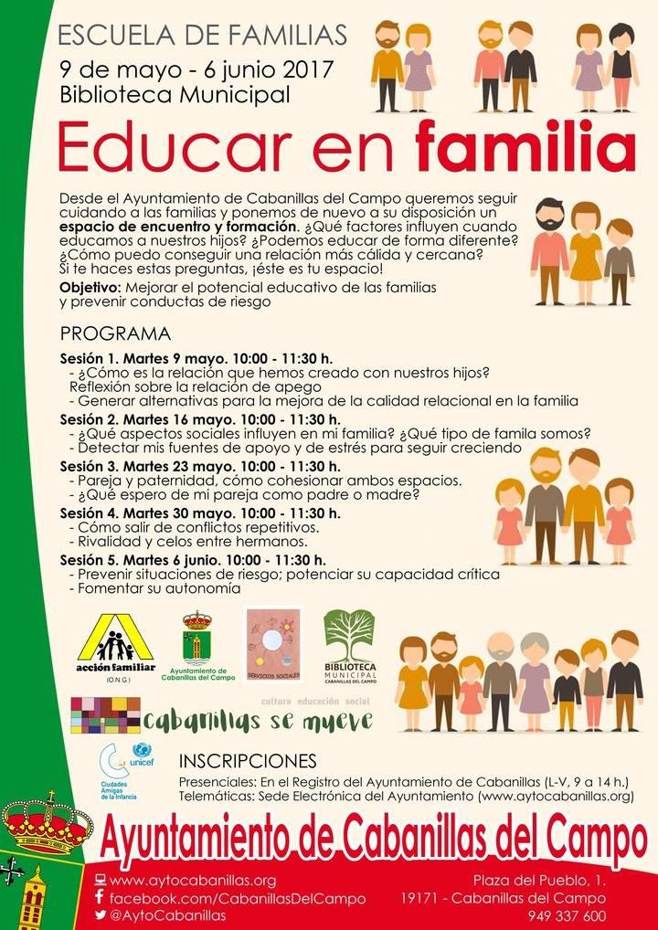 """Nueva edición de la """"Escuela de Familias"""" en Cabanillas del Campo"""