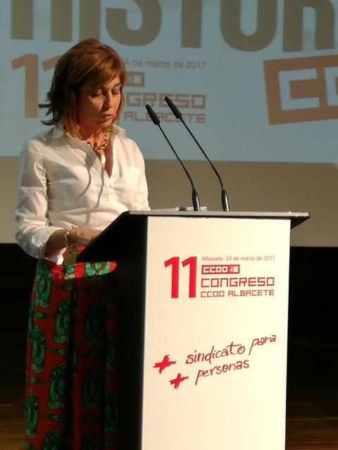 CCOO-Albacete elige secretaria general a Carmen Juste, la primera mujer al frente del sindicato en sus 40 años de historia