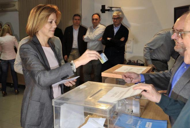 Cospedal (2.694 votos) se merienda a Medina (112 votos) y será la única candidata a presidir el PP de Castilla-La Mancha