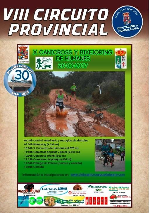 El domingo 26, última prueba del VIII Circuito Provincial de Canicross en Humanes