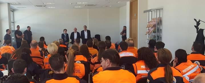 Voluntarios de 16 agrupaciones de Protección Civil de Guadalajara han realizado un curso de formación básica
