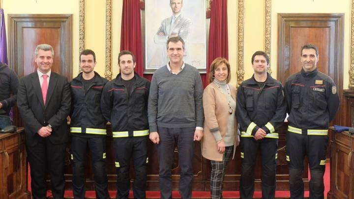 Toman posesión los tres nuevos suboficiales del Servicio de Extinción de Incendios de Guadalajara