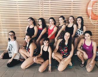 Buenas sensaciones en la primera competición de las chicas de sincro del Alcarreño