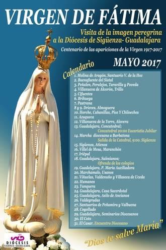 La imagen peregrina de Fátima recorrerá la diócesis de Sigüenza-Guadalajara durante el mes de mayo