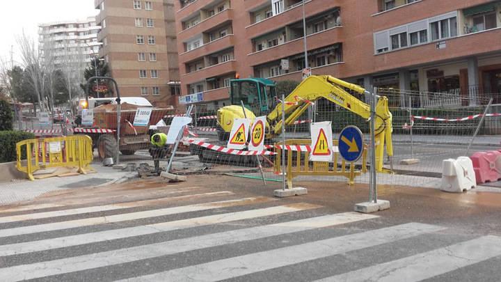 Los trabajos de la calle Sigüenza avanzan a buen ritmo y podrían acabar antes del plazo previsto