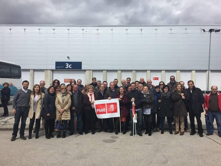Unos 200 militantes de Guadalajara arropan a Susana Díaz en su candidatura a la Secretaría General del PSOE
