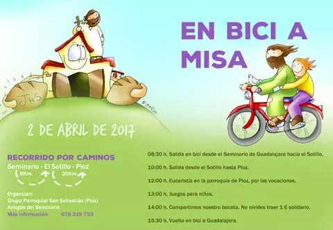 'En bici a misa' desde Guadalajara hasta Pioz el próximo 2 de abril