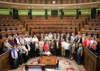 Vecinos de Illana visitaron el Congreso de los Diputados y el Senado