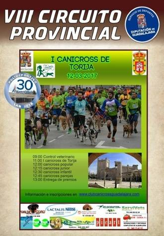 El domingo 12, quinta jornada del VIII Circuito Provincial de Canicross en Torija