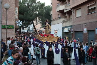 Multitudinaria procesión del Jueves Santo en Guadalajara, con Nuestro Padre Jesús Nazareno