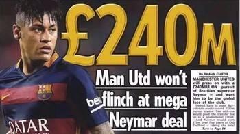 ¿Se ha vuelto loco el mundo del fútbol? : El Manchester United prepara 200 millones para fichar a Neymar