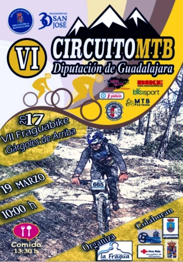 El domingo 19 se celebra en Gárgoles de Arriba la VII Fragua bike, primera prueba del Circuito MTB Diputación