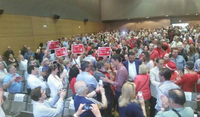 Pedro Sánchez 'el humilde' se ve ganador y recuerda en Guadalajara que las encuestas le dan 'abrumadora' mayoría