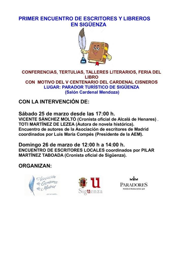 Este fin de semana, 'I Encuentro de escritores, libreros y editores' en Sigüenza