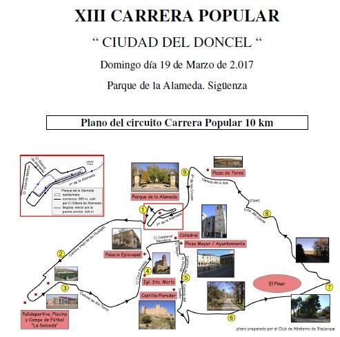 El domingo 19 se celebra en Sigüenza la XIII Carrera Popular 'Ciudad del Doncel'