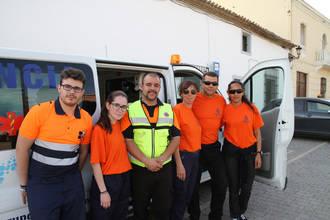 El Ayuntamiento presenta a la Agrupación de Voluntarios de Protección Civil de Quer