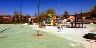 """El nuevo parque de La Salinera ya """"coge forma"""" y pronto estará terminado"""