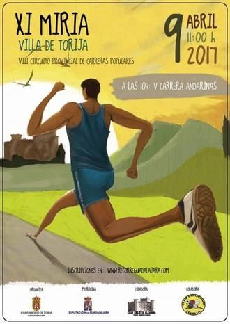 El domingo 9 se celebrará la XI Miria de Torija, segunda prueba del Circuito Diputación de Guadalajara