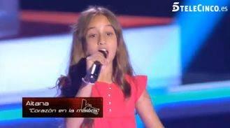 Aitana, la representante de Guadalajara en 'La Voz Kids' de Telecinco