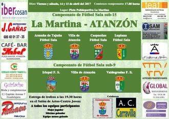 Seis pueblos participarán en el V Campeonato de Futbol-Sala La Martina de Atanzón