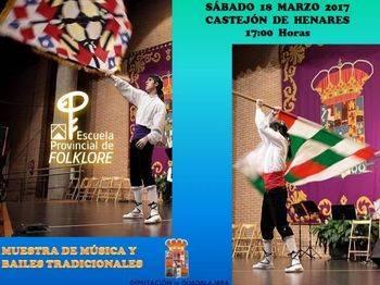 Muestra de música y bailes tradicionales de la Escuela de Folklore de Diputación en Castejón del Henares