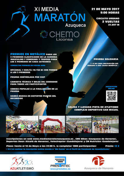 Abierta la inscripción en la XI Media Maratón Azuqueca Chemo-Liconsa
