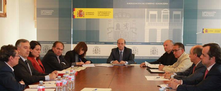 Sánchez-Seco preside la reunión de la Comisión de Asistencia al subdelegado del Gobierno en Guadalajara