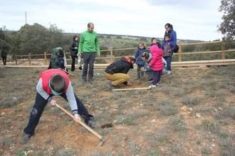 Yebes celebra el Día del Árbol con la plantación de 75 encinas y fresnos en el bosque de Valdenazar