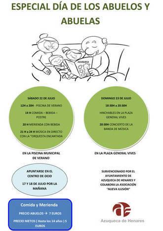 El lunes se ponen a la venta los vales para el Día de los Abuelos y Abuelas en Azuqueca