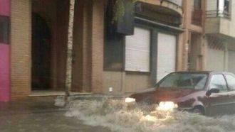 Las tormentas provocan este domingo en Guadalajara hasta cinco achiques de agua en la vía pública