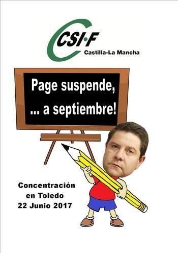 """Una manifestación gritará este jueves que """"¡Page suspende, …a septiembre!"""""""