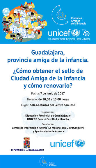 La Diputación de Guadalajara organiza una jornada sobre 'Ciudades Amigas de la Infancia'