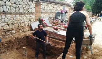Terminan las exhumaciones en la fosa nº 1 del cementerio de Guadalajara