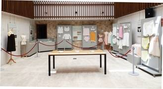 Exposición de ropa interior femenina tradicional de Guadalajara en la Posada del Cordón de Atienza