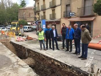 La Diputación inicia las obras de renovación de redes en Sigüenza
