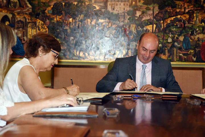 Diputación y AFAUS firman un convenio de colaboración destinado a personas con problemas de salud mental