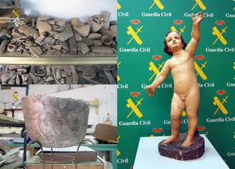 La Guardia Civil recupera 50.000 piezas de valor arqueológico incalculable, parte de ellas de Guadalajara