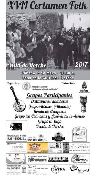 Horche celebra el 6 de mayo su XVII Certamen Folk con seis grupos de música tradicional