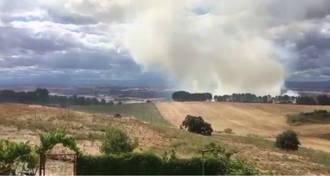 Controlado el incendio de Chiloeches que desciende a nivel 0 de alerta