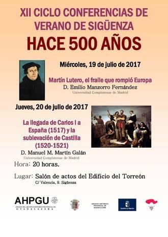 La XII Edición del Ciclo de Conferencias de Archivo vuelve a 'Hace 500 años' en Sigüenza