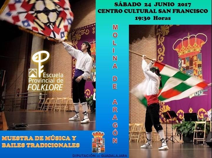 Muestra de música, bailes tradicionales y demostraciones de artesanía de la Escuela de Folklore el sábado en Molina