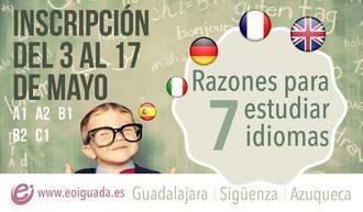 La Escuela de Idiomas de Guadalajara abre el plazo para que se apunte nuevo alumnado