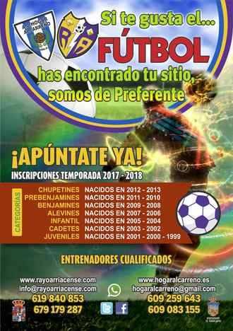 Arranca la escuela de fútbol del Hogar Alcarreño y Rayo Arriacense