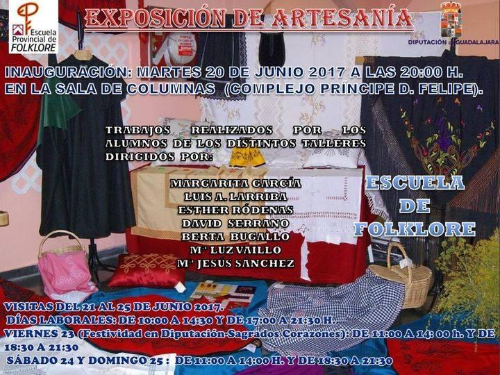 Este martes se inaugura la exposición de trabajos de artesanía de los alumnos de la Escuela de Folklore