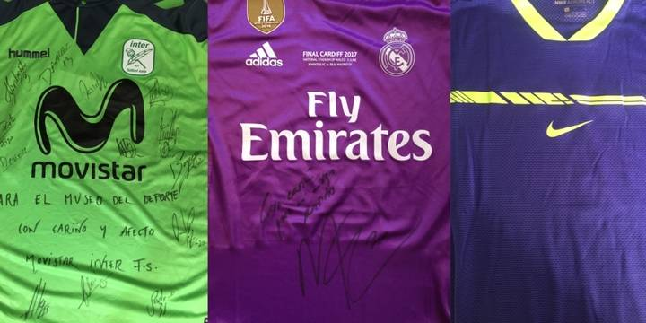 Llegan al Museo del Deporte las camisetas de Nadal y su Roland Garros, la Duocécima del Madrid y la Liga del Inter Movistar