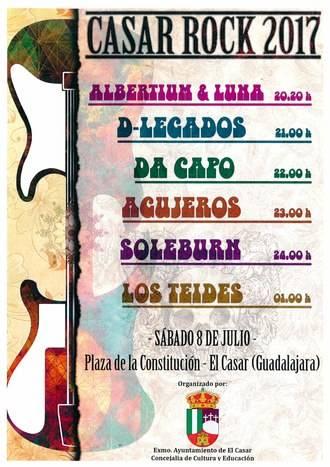 Grupos locales protagonizan este sábado un concierto de rock en El Casar
