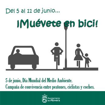 """El Ayuntamiento de Alovera le dice a sus vecinos: """"Muévete en bici"""""""