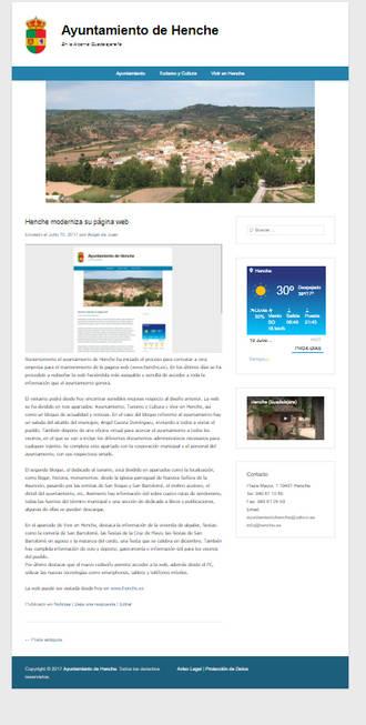 Henche moderniza su página web municipal