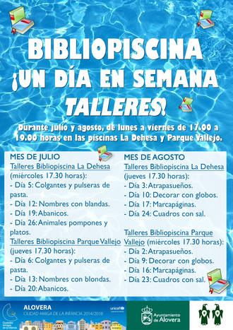 Bibliopiscinas en Alovera a lo largo de todo el verano