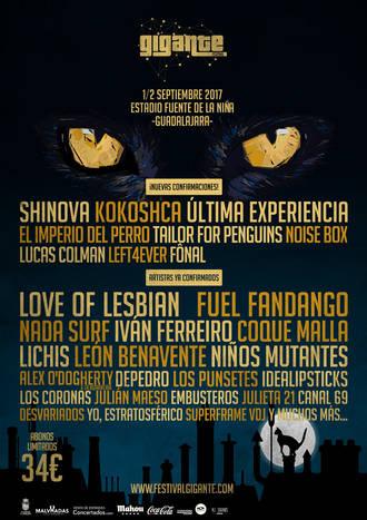 Nuevos grupos se unen al Festival Gigante 2017
